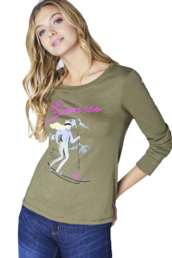 T-SHIRT LONGSLEEVE WITH WINTER PRINT FOR LADIES