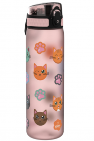 ION8 LIETUVOJE | GERTUVĖ | LEAK PROOF SLIM WATER BOTTLE, BPA FREE, CATS, 600ML | SURFWAX | SURFSHOP
