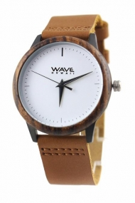 WAVE HAWAII WOODEN WATCH  ZEBRANO WOOD