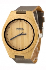 WAVE HAWAII WOODEN WATCH CARBONIZED BAMBOO