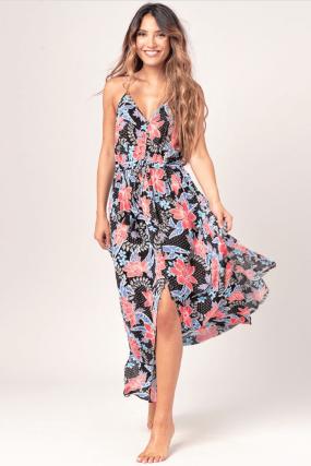 Ripcurl Still In Paradise Dress | Lengva viskozinė vasariška moteriška suknelė  laisvalaikiui , paplūdimiui, vakarėliui