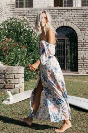SURFWAX |  Billabong Dreamer Dress for Women |Lengva vasariška moteriška  viskozės suknelė