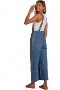 Billabong Paint By Numbers Stripe Denim Jumpsuit for Women|stilingas laisvalaikio kombinezonas