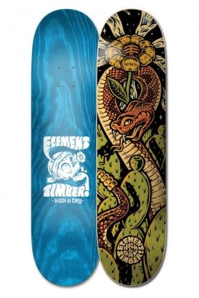 "Element 8.5"" Timber High Dry Snake ‑ Skateboard Deck | Riedlentės lenta | dekas |Surfwax"