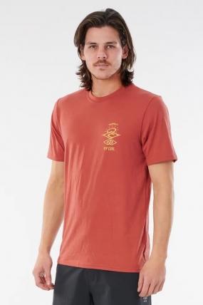RipCurl Searchers Short Sleeve Vyriška Plaukimo Maikė| Surfwax Surf stiliaus apranga