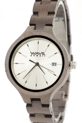 WAVE HAWAII Wooden Maple Moteriškas Laikrodis  Surfwax Surf stiliaus apranga