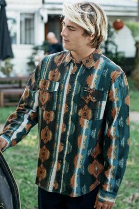 Billabong Wrangler Westward Twill Vyriški Marškinėliai|Surfwax Surf stiliaus aprangos parduotuvė nuo 2010