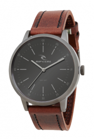 RIPCURL DRAKE LEATHER GUNMETAL